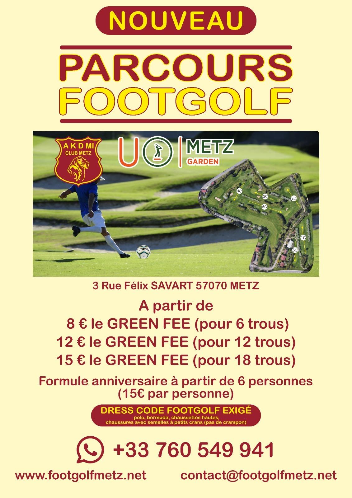 Golf de Metz : nouveau ! Footgolf