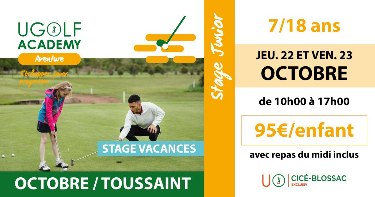 Golf de Cicé-Blossac : stages juniors de la Toussaint