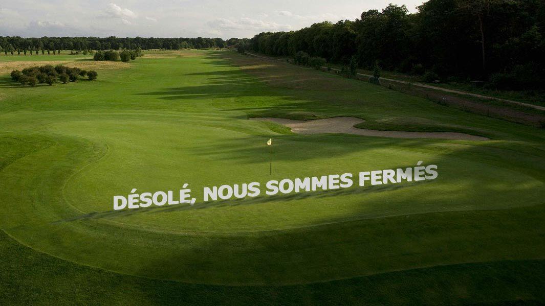 Fermeture de nos golfs jusqu'au 1er décembre 2020