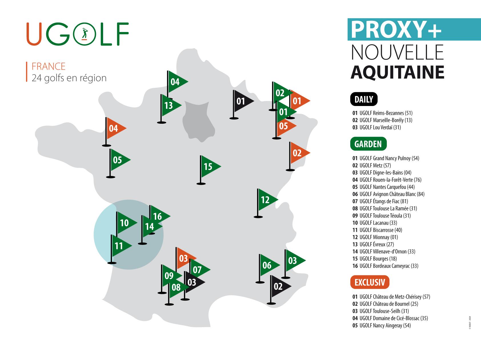 Golfs de région bordelaise : nouvel abonnement 1