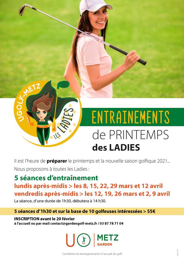Golf de Metz : entraînements de printemps des Ladies 1