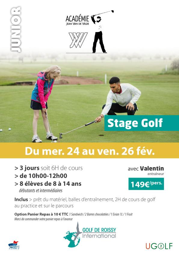 Golf de Roissy : stages juniors et adultes vacances de février 1