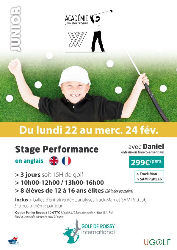 Golf de Roissy : stages juniors et adultes vacances de février 2