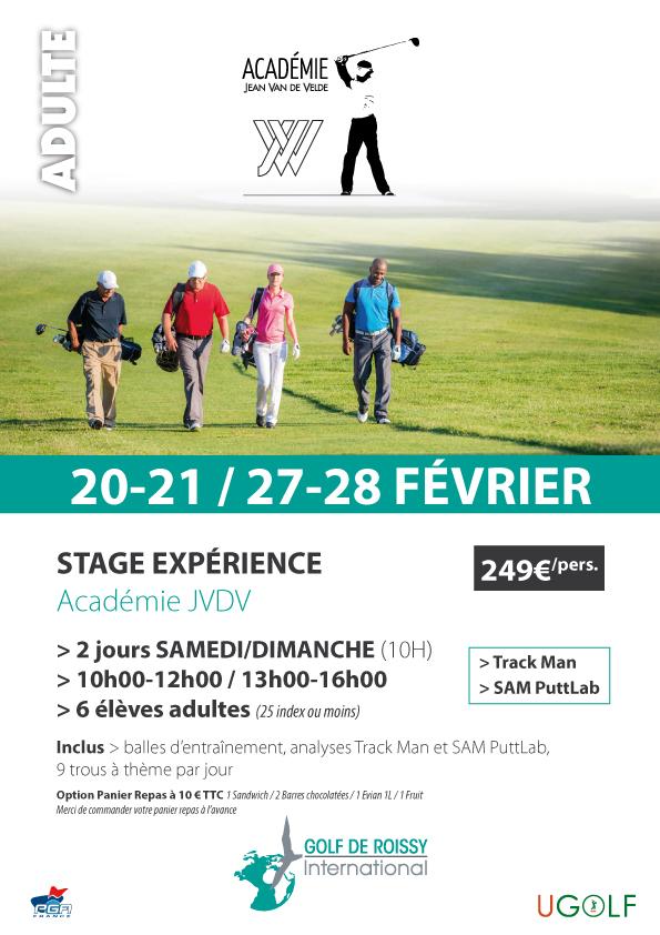Golf de Roissy : stages juniors et adultes vacances de février
