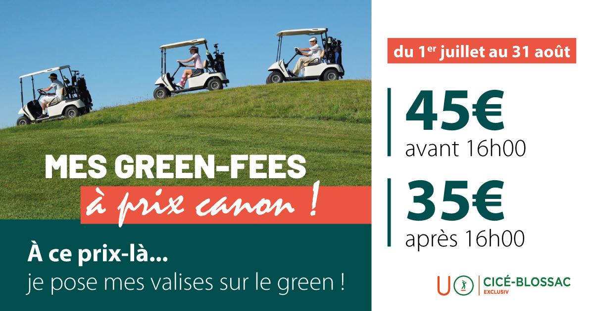 Golf de Cicé-Blossac : Green fees à prix canons !