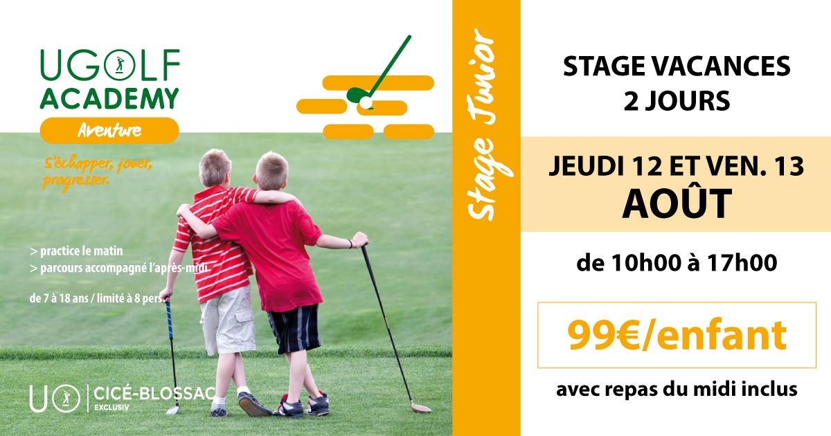 Golf de Cicé-Blossac - Stage d'été juniors