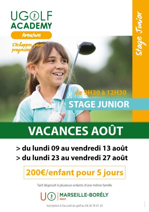 Golf de Marseille Borély : Stages Juniors été 2021