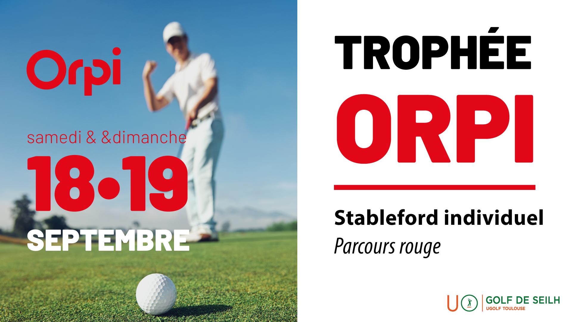 Golf de Toulouse Seilh : Trophée Orpi